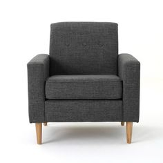 Sawyer Mid-century Modern Club Chair Gray - Christopher Knight Home : Target Blue Accent Chairs, Grey Armchair, Glider And Ottoman, Mid Century Modern Living Room, Wood Arm Chair, Grey And Beige, Upholstered Chairs, Club Chairs, Living Room Chairs