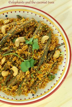 Okra stir fry with raw coconut / Bhindi Sambhariya / no onion no garlic recipe.