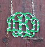 Chevron Monogram Floating Necklace LOVE! at www.kellyosteen.com