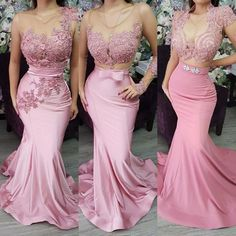 Pink Evening Dress, Mermaid Evening Dress, Sexy Evening Dress, Women Evening Dress, Lace Applique Ev on Luulla Dark Red Bridesmaid Dresses, Pink Formal Dresses, Beautiful Prom Dresses, Junior Bridesmaid Dresses, Sexy Dresses, Kohls Dresses, Casual Dresses, Summer Dresses, Dresses Uk