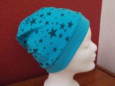 Mützen - Mütze, Sterne türkis, Wunschgröße - ein Designerstück von…