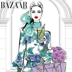 Megan Hess Illustration - Bazaar