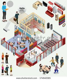 awesome vector custom isometric.#office #isometric #building #interior #incredible #detailed #illustration #workstation #vector #building #business #game #lego #office #design #layout #popular #illustration