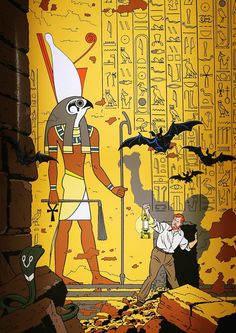 Professor Philip Angus Mortimer - art by Edgar P. Ex Libris, Comic Books Art, Comic Art, Egypt Movie, Pop Art, Ligne Claire, Bd Comics, Comic Styles, Illustrations And Posters