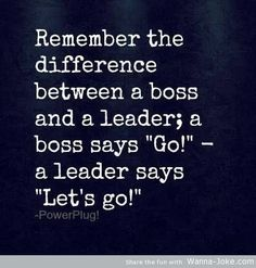 Love this distinction! So true! Love being a leader in the thick of it with my team; my collaborators!