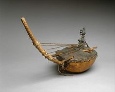 Harp Lute  Date19th century  Ivory Coast  Senufu People  Gourd, skin, wood