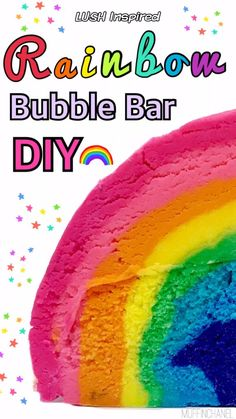 I love rainbows (who doesn\'t?!) so I decided to make a Rainbow Bubble Bar and it was amazing. Check out my Rainbow Bubble Bar DIY!