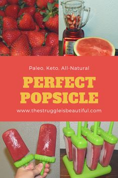 A super fun snack, perfect for the summer time. Home Made Popsicles that are Paleo, Keto, and all-natural. Guilt free cool summer snack for kids and parents. Healthy Sweet Treats, Healthy Snacks For Kids, Healthy Recipes, Keto Recipes, Healthy Food, Healthy Eating, Kid Snacks, Ramen Recipes, Snacks Ideas