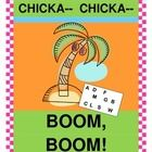 """""""CHICKA CHICKA BOOM BOOM!"""" - ADD A RHYTHM GAME!  This book by Bill Martin Jr. and John Archambault is too much fun to enjoy sitting still!  Use Rhythm Sticks to 'keep the beat' during a fun LETTER RECOGNITION GAME that you play right after the story!  Colorful LETTER CARDS are provided.  Follow a strong rhythm pattern,  learn a funny rhyme, and put some 'MOVES' in your Story Time!  Easy directions for game play are included.  (9 pages)  Joyful Noises Express TpT!  $"""