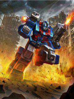 Autobot Ultra Magnus Artwork From Transformers Legends Game