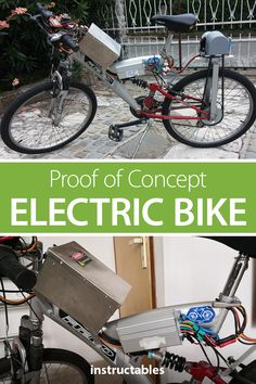 Electric Bike - the HARD Way - This proof and concept show how to make an electric bike without an e-bike kit or hub motor. Electric Bikes For Sale, Electric Cars, Electric Cycles, Welding Workshop, E Bike Kit, Outdoor Cabana, Robotics Engineering, Proof Of Concept, Scooter Motorcycle