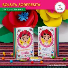 Frida - Todo Bonito Cereal, Box, Birthday, Mexican Fiesta Party, Themed Parties, Crates, Nice, Snare Drum, Birthdays