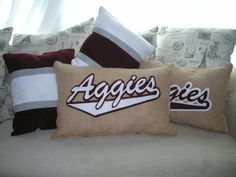 Texas A&M Aggie Pillows by EspritDecorGifts on Etsy, $5.00