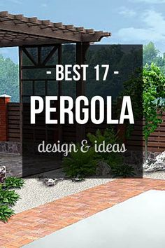 17 Backyard pergola roof and Gazebo Design Ideas. Add shade and style to your outdoor living space with one of these unique structures. #pergola #pergolaideas #pergoladesign #pergolaplan #pergolas #garden #gardendesign #gardenideas #patio #outdoor #outdoorliving #patios