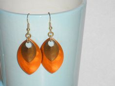 Dangle  Earrings Gold Plated Lightweight Earrings by mcutecharms, $7.99
