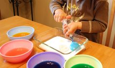 Sunshine and a Summer Breeze: Rainy Day Activities - a very simple baking soda and vinegar activity. Rainy Day Activities, Indoor Activities, Craft Activities For Kids, Summer Activities, Toddler Activities, Crafts For Kids, Preschool Projects, Projects For Kids, Summer Breeze