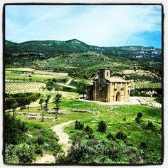 Vista a Santa M de la Piscina #enoturismo y #cultura#Rioja
