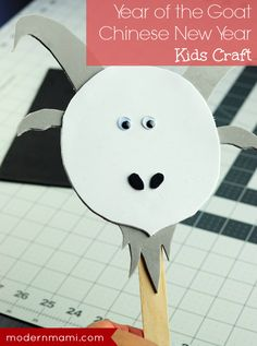 Make this fun Chinese New Year craft for kids to celebrate the Year of the Goat! This simple goat stick puppet is great for kids of all ages, and simple enough for toddlers or preschoolers! Plus, get more ideas for how to celebrate Chinese New Year with kids!