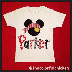 Personalized Pirate Mickey Shirt boy Disney by thecolorfulchicken