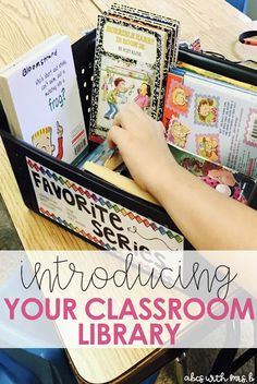 We spend so much time in the beginning of the school year organizing our classroom library! Here are a few ways I set up community in my classroom the first week of school through introducing the library to the students.