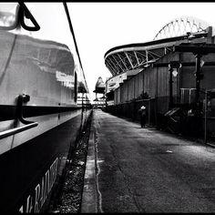 Train Station - Seattle (Century Link Stadium & Safeco Field in the background)