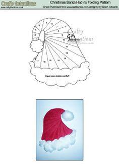 Home : Iris Folding : Christmas : Christmas Santa Hat Iris Folding ...