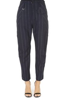This is the 'Hyper' Blue Pinstripe Trouser by our friends at HIGH Couture! It features a lovely fit and classic stripes for a unique look. Harem Pants, Pajama Pants, Trousers, Leggings Fashion, Leggings Style, Shop Now, Stripes, Couture, Fitness