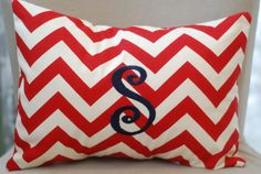 red chevron fabric for girls' room