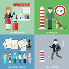 Contraband, Border Control, Post by robuart on Creative Market