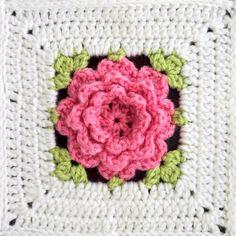 Virkattu ruusuinen vauvanpeitto | Crochet baby blanket | Pitsin viemää