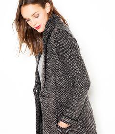 Gilet esprit veste moulinée gris chiné Camaïeu 2016
