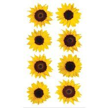 Amazon.com: Sticko Sunflowers Stickers: Arts, Crafts & Sewing  $3.97 for 8