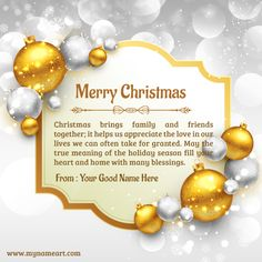 Merry Christmas Greetings Quotes Families | Christmas Ornaments Pics Edit Online And Write Your Name ...