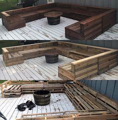 Pallet Furniture Outdoor Couch, Diy Garden Furniture, Wooden Furniture, Furniture Layout, Pallet Couch Outdoor, Antique Furniture, Pallet Patio Decks, Diy Pallet Couch, Palette Furniture