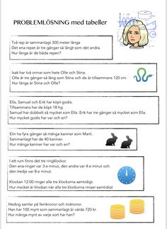 problemlösning multiplikation Learn Swedish, Swedish Language, Teacher, Education, Learning, Maths, School Stuff, Tips, Inspiration