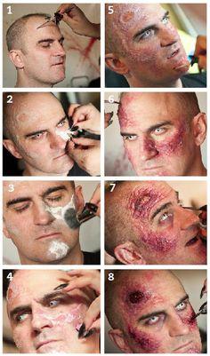 Resultado de imagem para zombie makeup step by step