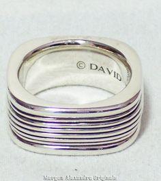 DAVID YURMAN MENS STERLING SILVER ROYAL CORD BAND RING 10.5MM | eBay