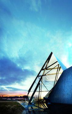 Triangular modern architecture