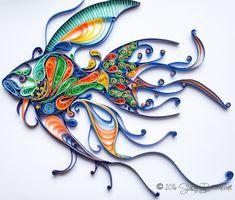 Quilled Fish - Original Artwork