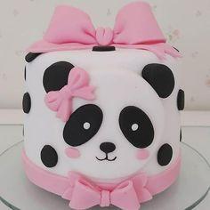 Panda Birthday Cake, Baby First Birthday, Fondant Cakes, Cupcake Cakes, Bolo Panda, Panda Cakes, Birthday Cake With Flowers, Mom Cake, Panda Party