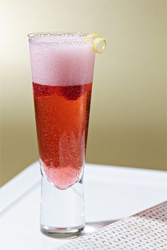It's my drink!  I'm ordering this everywhere ;) Kir Royal - the ultimate elegant cocktail