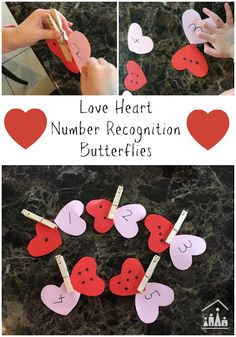 Our Love Heart Butterflies are perfect for teaching preschoolers number recognition skills, whilst they also work their fine motor skills.