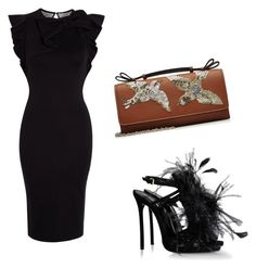 """""""Untitled #2661"""" by loveparis7 ❤ liked on Polyvore featuring Dsquared2 and RED Valentino"""