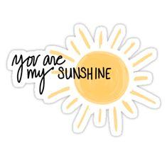 'You are my Sunshine' Sticker by mrndaj – Stickers - Buch