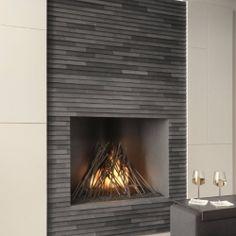 Contemporary Slab Stone Fireplace Calacutta Carrara Marble Book Matched Gas