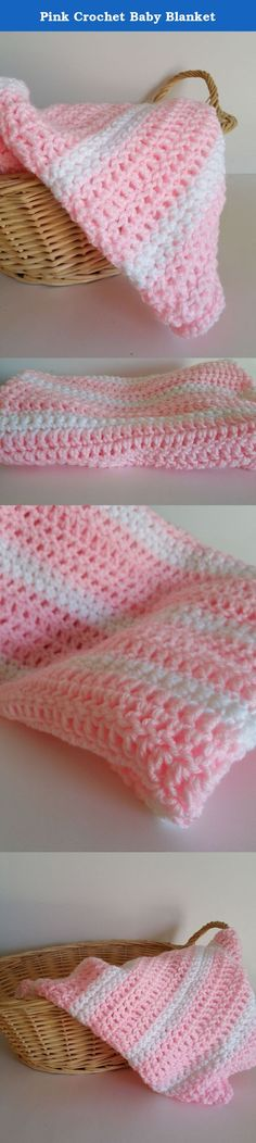 Pink Crochet Baby Blanket. Baby Blankets are an absolute must! The soft cozy feeling to wrap your newborn bundle of joy in, is the best feeling you could possibly have as a new parent. Baby Blankets can be found just about anywhere. Instead of buying a baby blanket from a big box store, why not purchase one that is hand made specifically for your new baby boy or girl? This Pink crochet baby blanket is 25x30, hand crocheted with 100% touchably soft acrylic yarn. We recommend pre-washing…