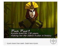Death once had a near Kyoshi experience.how did she's live that long! And why did Aang die so soon? Avatar Aang, Avatar The Last Airbender Funny, The Last Avatar, Avatar Funny, Team Avatar, Avatar Airbender, Iroh, Zuko, Fandoms