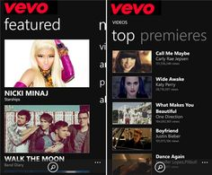 Watch Videos, Live Concerts and Listen Music – VEVO Free Windows Phone App VEVO