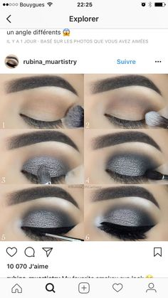 Pretty, pretty, cool eyes – night make up Pretty Makeup, Love Makeup, Makeup Inspo, Makeup Inspiration, Dress Makeup, Smokey Eye Makeup, Skin Makeup, Eyeshadow Makeup, Eyeshadows