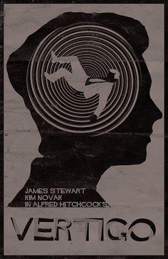 Vertigo - minimal movie poster
